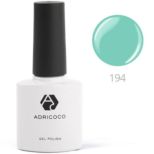 Цветной гель-лак ADRICOCO №195 аквамарин (8 мл.)