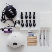 Стартовый набор для покрытия гель лаком с аппаратом и тм Serebro