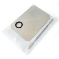 Компактная металлическая палитра со шпателем в прозрачном чехле
