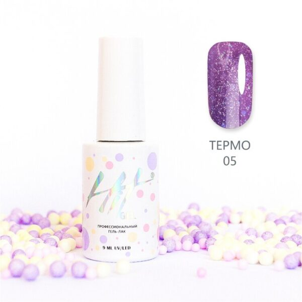 "Гель-лак ТМ ""HIT gel"" №05 Thermo shine, 9 мл"
